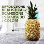 Stampa 3D realistica di un ananas